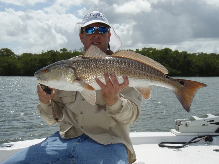 03 08 12 estero bay slob redfish for Estero bay fishing report