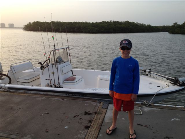 07 19 12 estero bay father and son charter for Half day fishing trips fort myers
